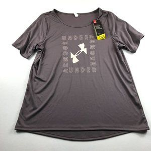 Under Armour Loose T-Shirt Size L Purple Pink